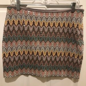 Express Small skirt in fall colors.